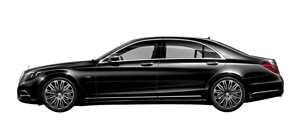 Mercedes S350 noir de profil disponible à la location chez GT'Luxury