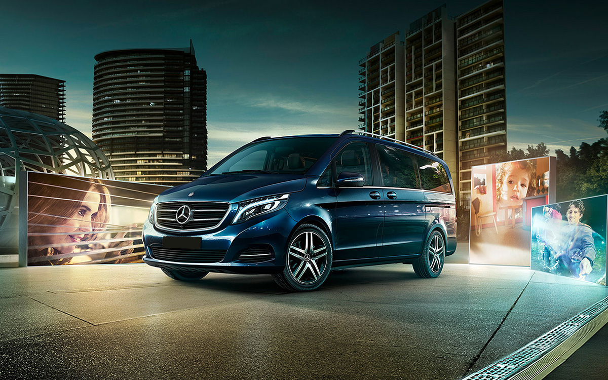 Mercedes classe v disponible en location chez gt luxury